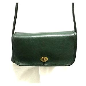 "Vintage Coach Leather ""Dinky"" Bag, Forest Green"